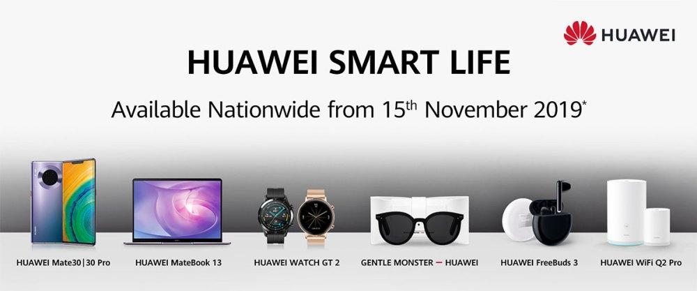 HUAWEI Smart Life 2019 product range