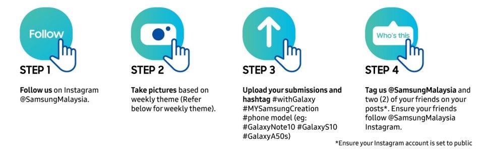 My Samsung Creation contest steps