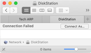 macOS cannot connect to NAS