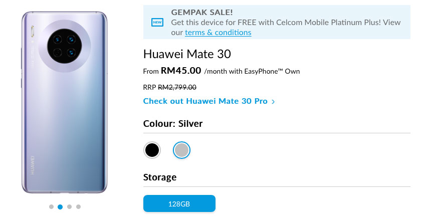 Celcom free Mate 30 offer 2019