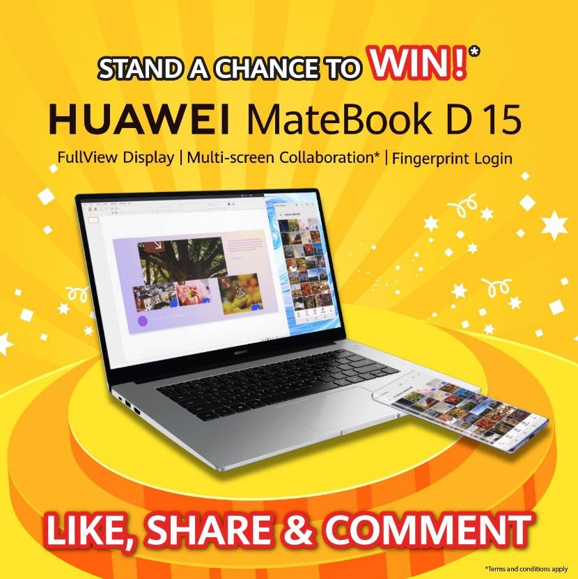 HUAWEI MateBook D 15 Facebook contest