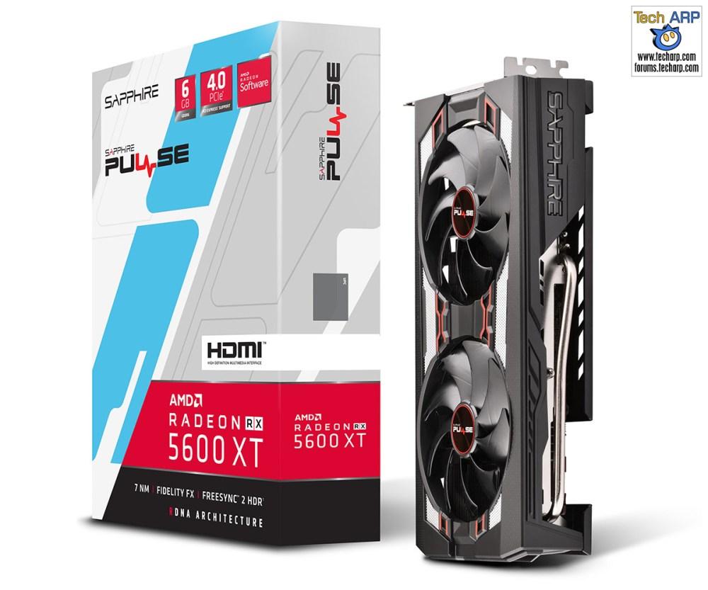 Sapphire PULSE RX 5600 XT box and card