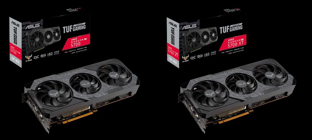 ASUS TUF EVO RX 5700 cards