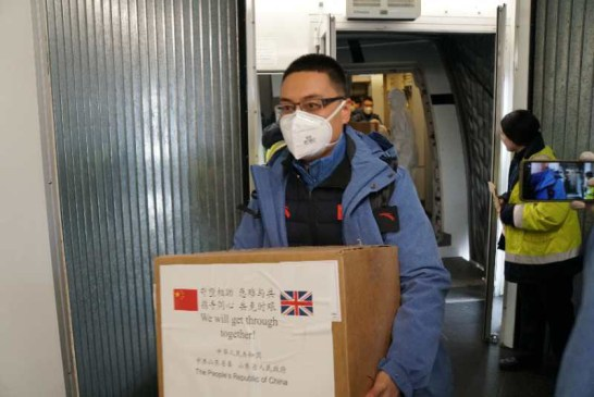 China medical aid to UK 03