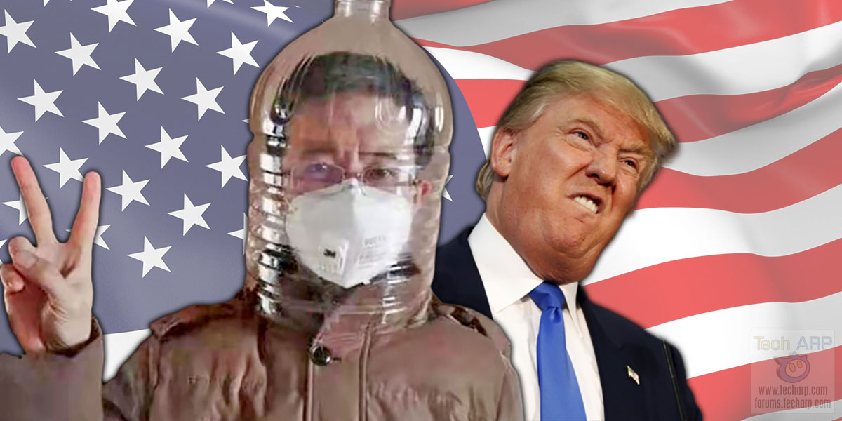 China Just Sent Donald Trump These Face Shields!
