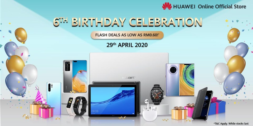 HUAWEI Online Store : 6th Birthday Deals Revealed!