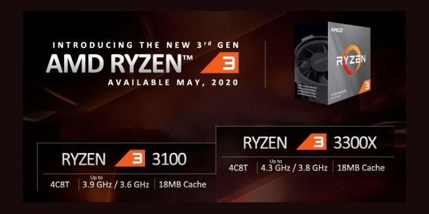 AMD Ryzen 3 3300X vs Ryzen 3 3100 Comparison