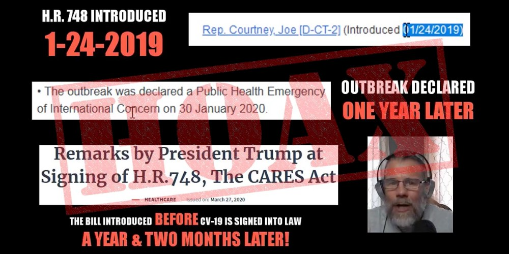 Fact Check : CARES Act HR 748 Introduced Long Before COVID-19!