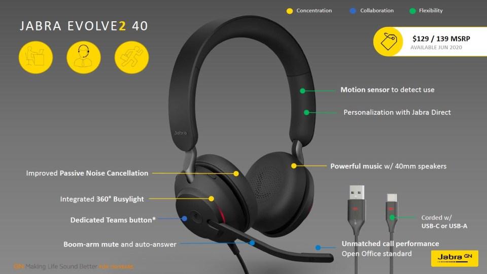 Jabra Evolve2 40 features