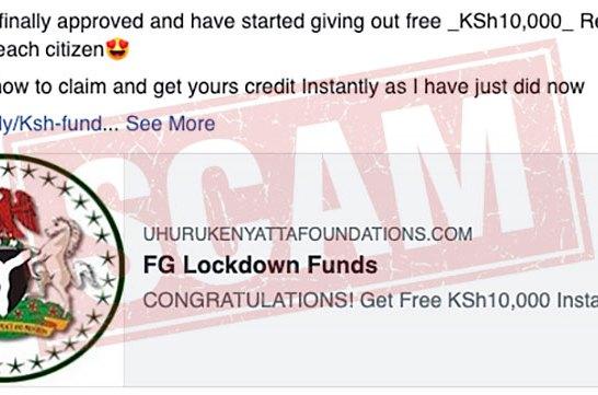 FG Lockdown Funds scam 03