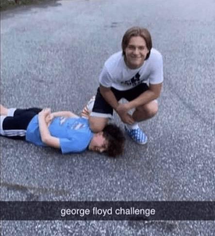 George Floyd Challenge asshole 02