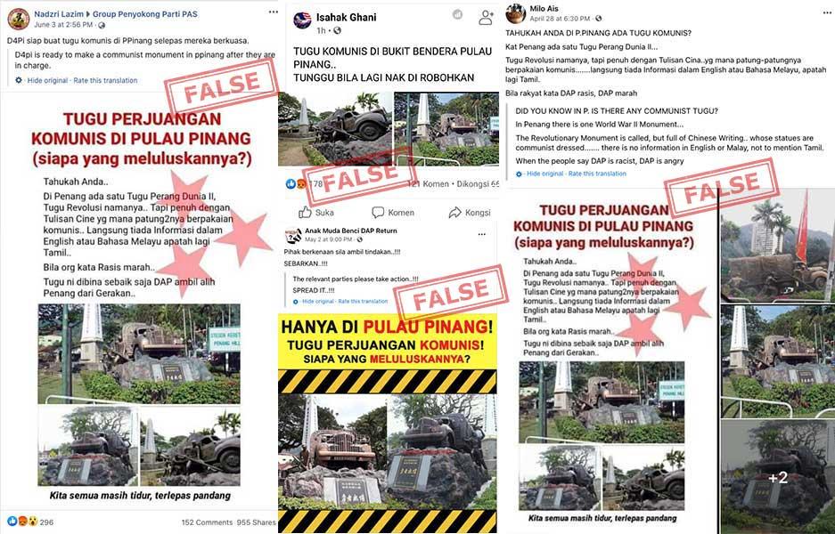Tugu Komunis di Bukit Bendera Pulau Pinang?