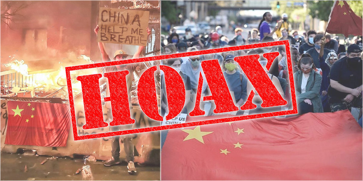 Fact Check : US Protestors Asking China For Help!