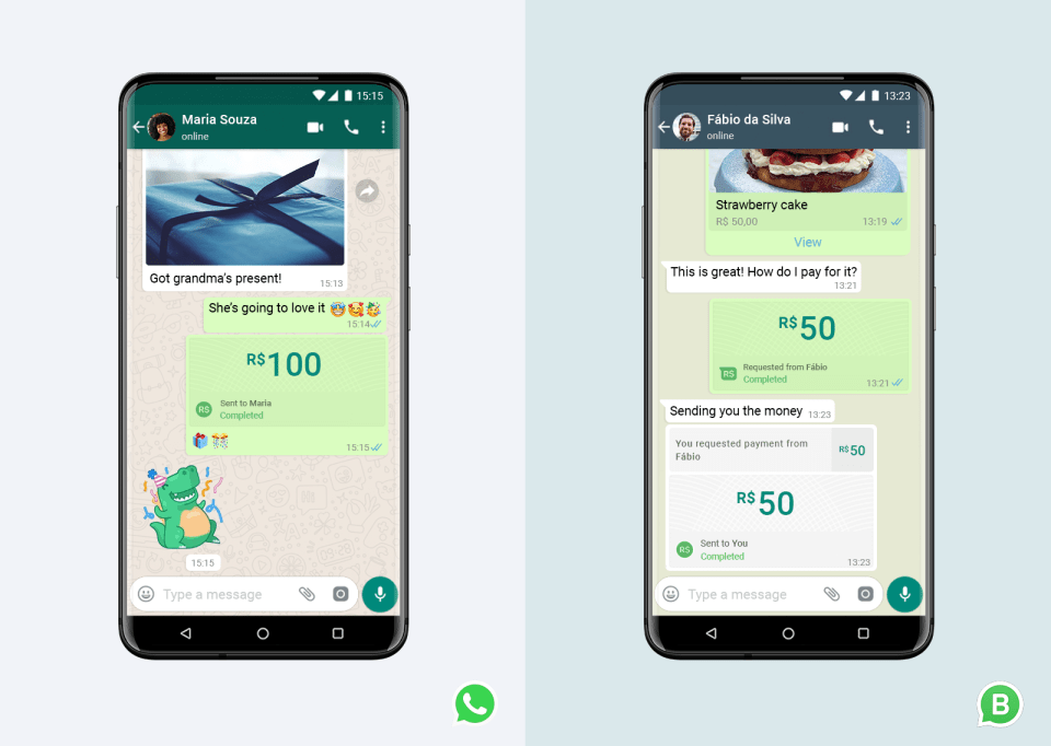 WhatsApp Payments example