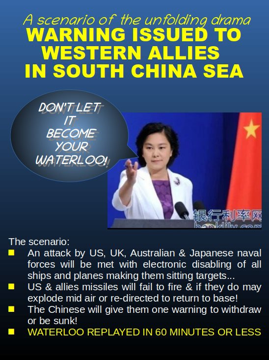Fact Check : China Threatens West With Waterloo In SCS?