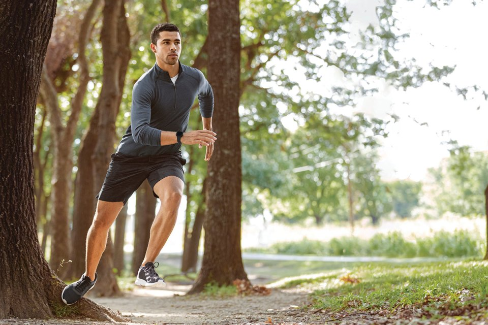 Fitbit Versa 3 jogging