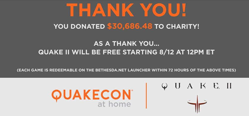 Quake 2 free game banner