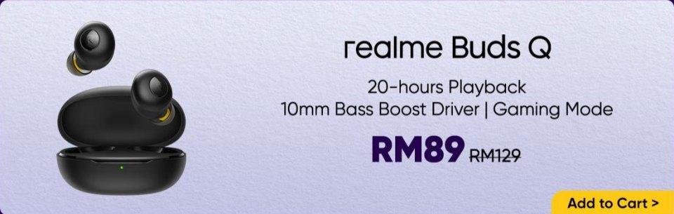 Realme Buds Q August 2020 sale