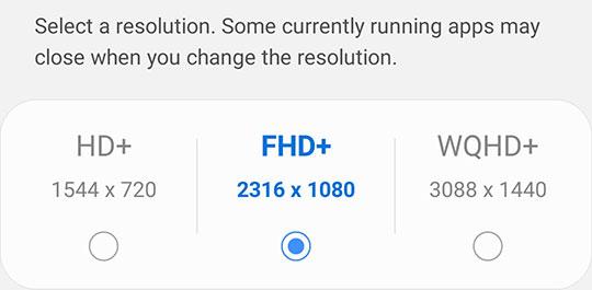 Samsung Galaxy Note 20 Ultra resolution