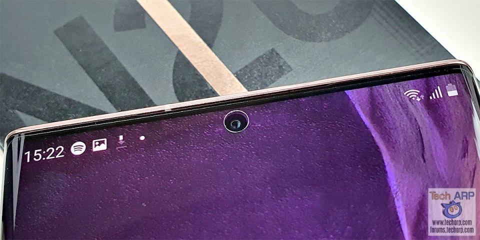 Samsung Galaxy Note20 Ultra front camera