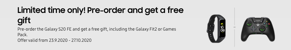Samsung Galaxy S20 FE UK free gifts