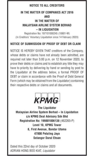 KPMG MAS Liquidation