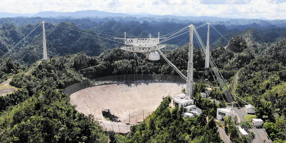 Watch : Arecibo Telescope Before & During The Collapse!