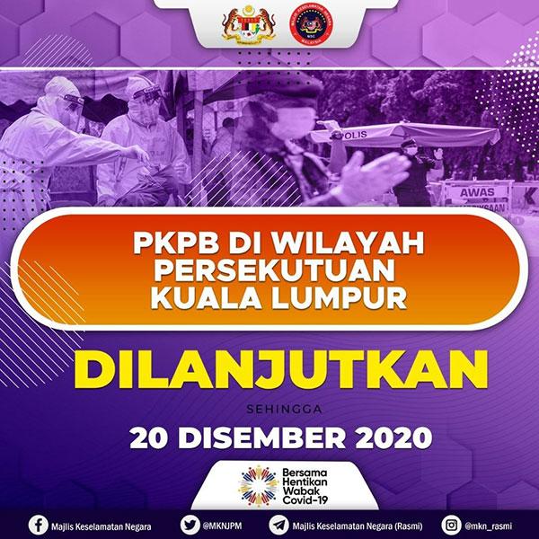 KL CMCO / PKPB Lockdown Extended To 20 December!