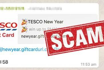 Tesco New Year Scam Alert : Do NOT Click / Forward!