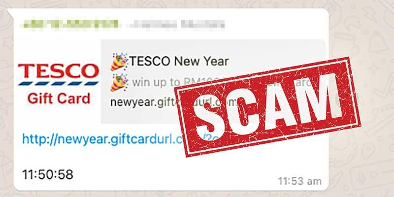 Tesco New Year Scam Alert : Do NOT Click!