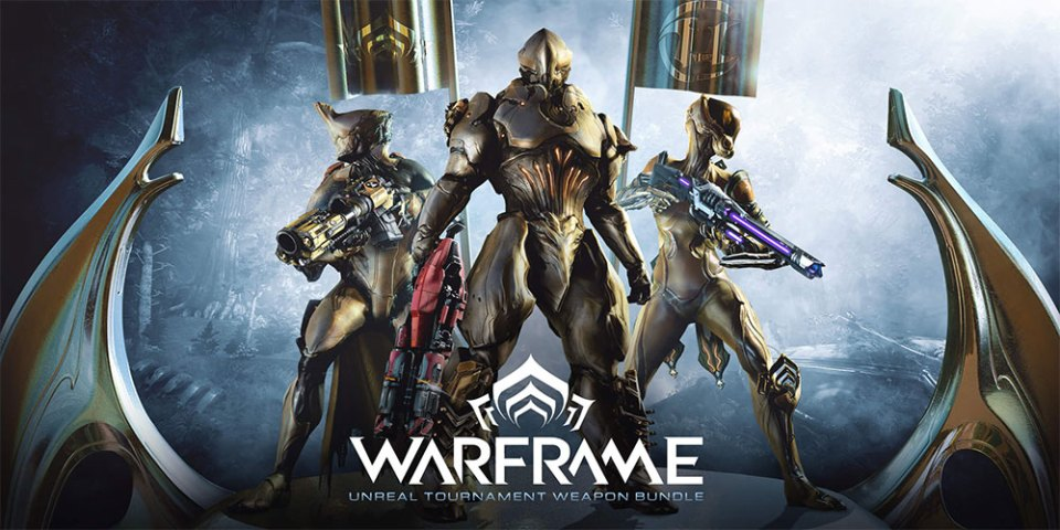 Warframe : Get FREE Unreal Tournament Weapon Bundle!