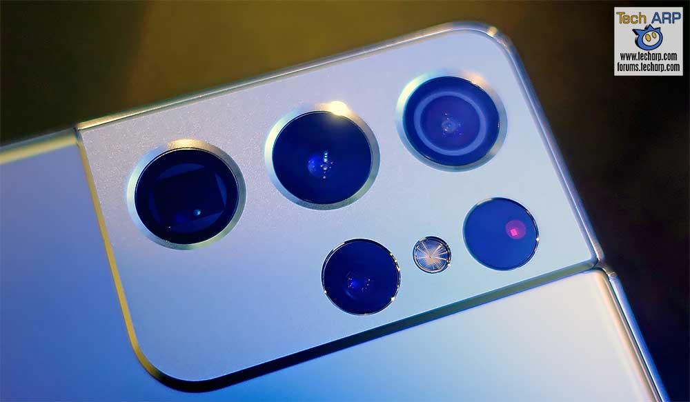 Samsung Galaxy S21 Ultra back cameras preview