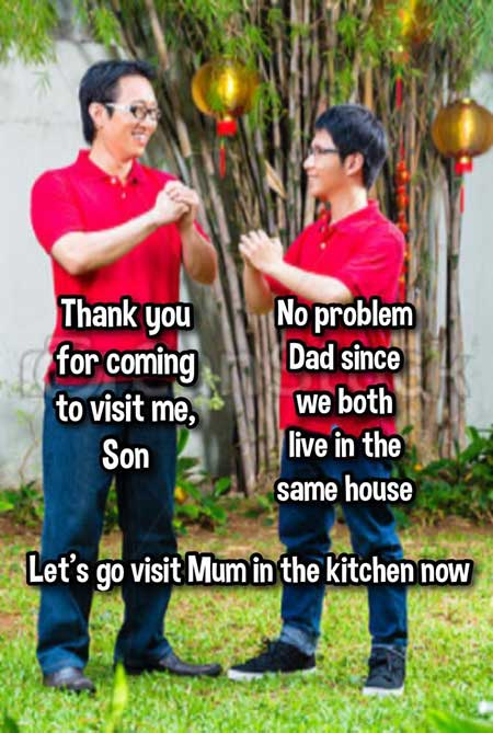 CNY visiting same house