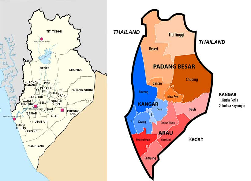 Perlis district map