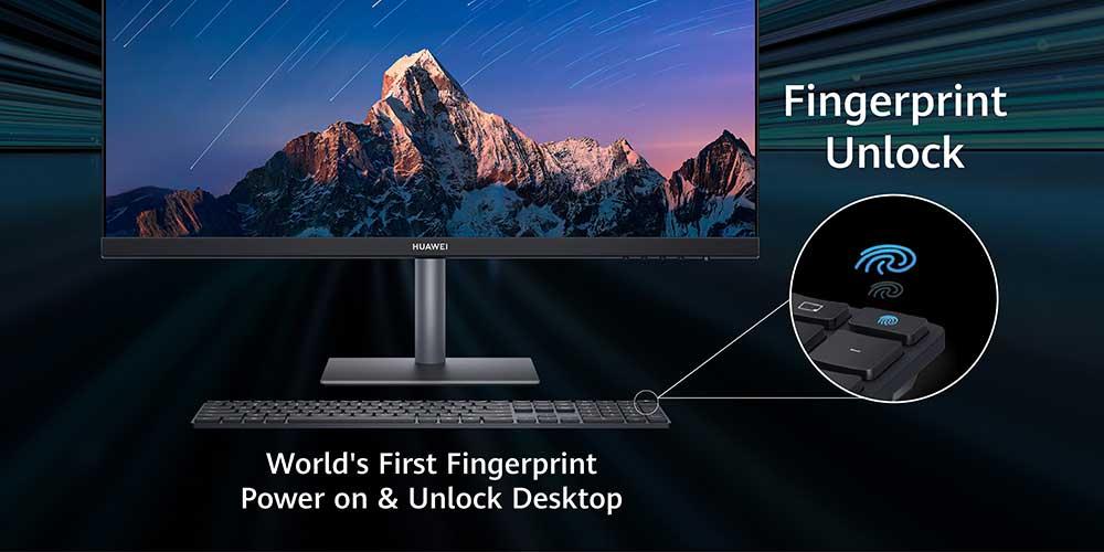 HUAWEI MateStation S fingerprint unlock