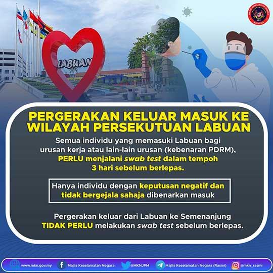 Labuan travel notice March 2021