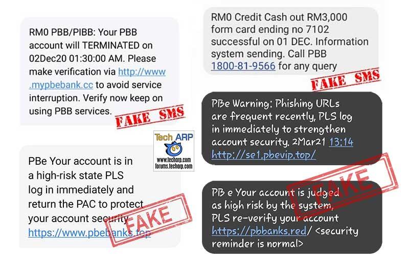 Public Bank : More Fake SMS Scams! Do NOT Click / Call!