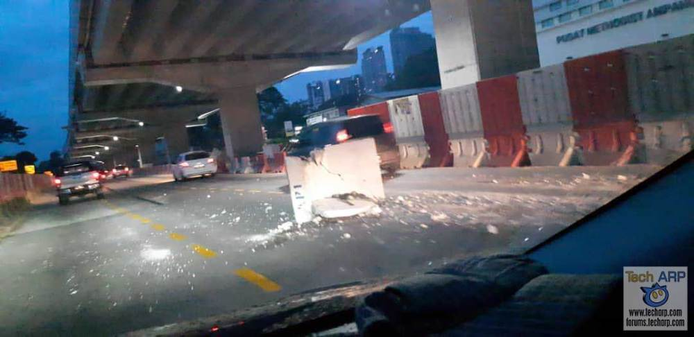SUKE Project : Concrete Block Fell Off Lorry, Not Ours!