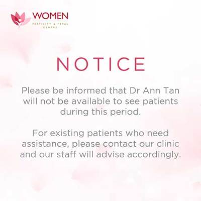 Dr Ann Tan not available notice