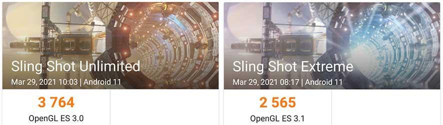 Samsung Galaxy A52 3DMark results