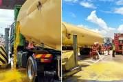 Gone In 90 Minutes : Tanker Spills 20,000 Litres Of Oil!