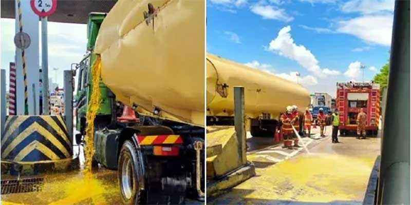Gone In 90 Minutes : Tanker Spills 20,000 Litres Of Oil!