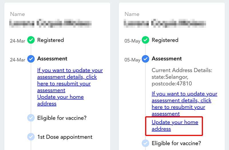 Vaccine Registration : Must Change Address In MySejahtera?