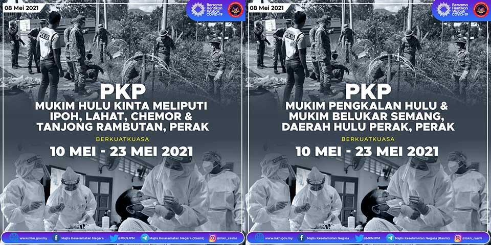 Penang : 3 Districts + 3 Mukims Under MCO 3.0!