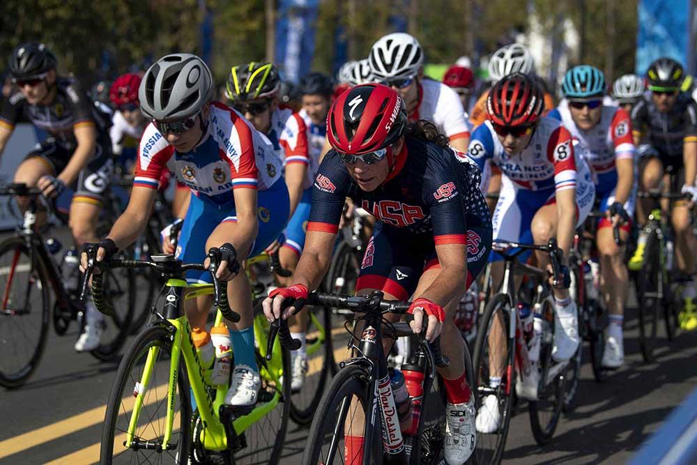 Maatje Benassi cycling at 2019 Military World Games