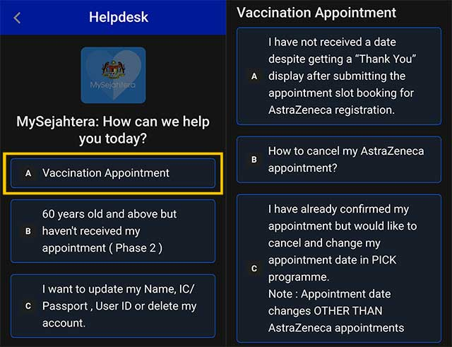 MySejahtera : How To Change / Cancel Vaccine Appointment?