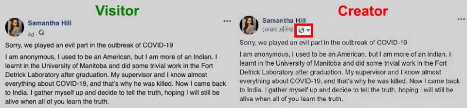 Samantha Hill post visitor vs creator