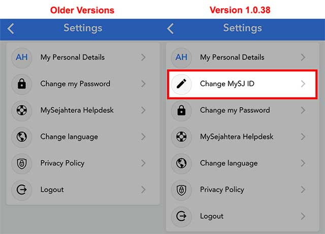 How To Change Your MySJ ID In MySejahtera!