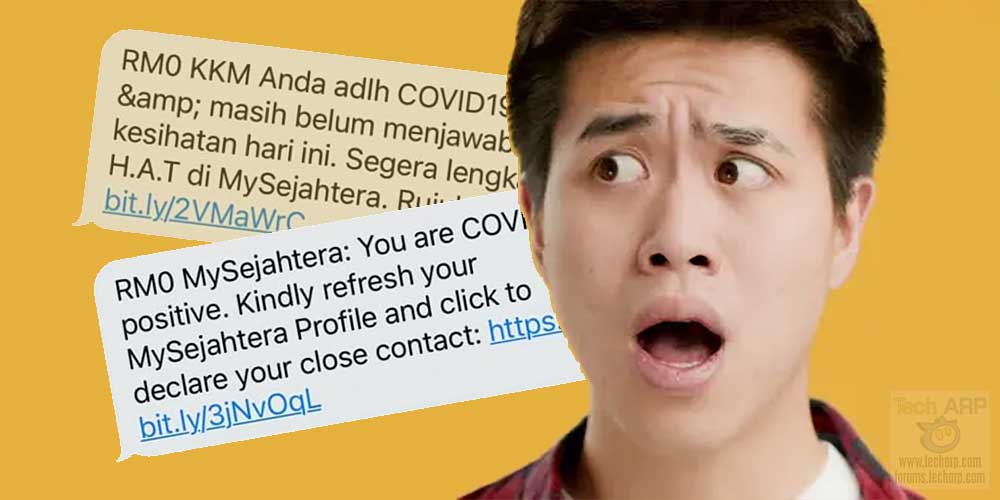Verified : KKM + MySejahtera SMS Messages Are Legit!