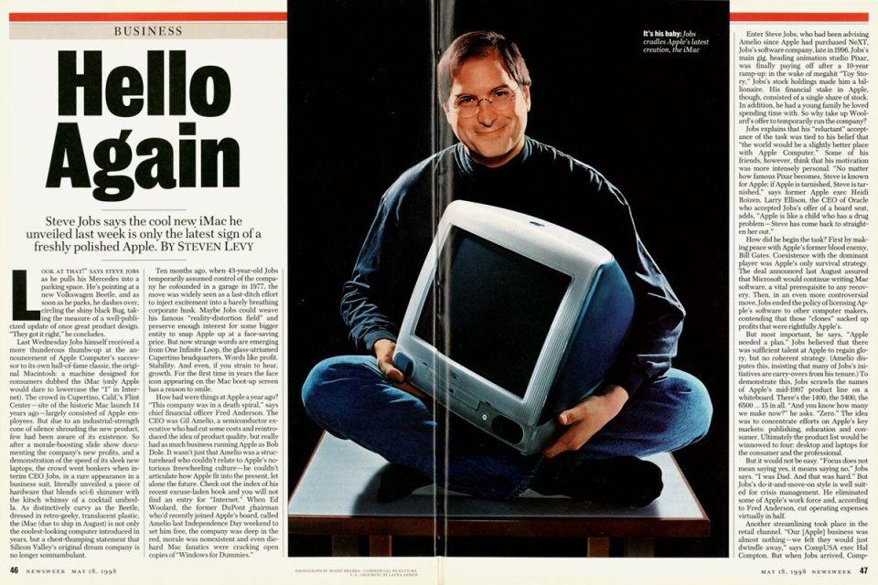 Steve Jobs Hello Again Newsweek